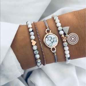 Jewelry - 4 Pcs Bohemian Bracelet Set